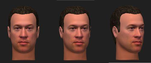 aprovação do desenho 3D da face